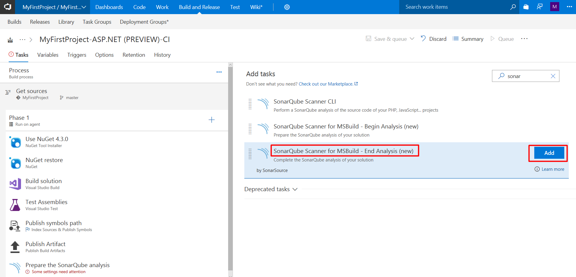 Configure Sonarqube with VSTS for Continuous Code Quality – DevOps